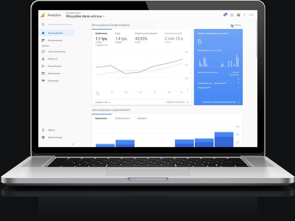 Audyty stron www- podstawowe narzędzia - google analitics